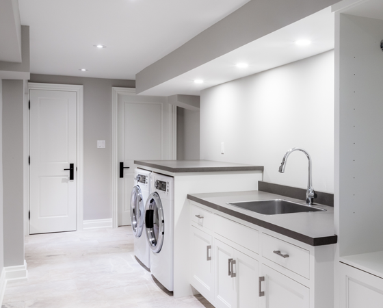 Custom Laundry Room Renovation, Burlington