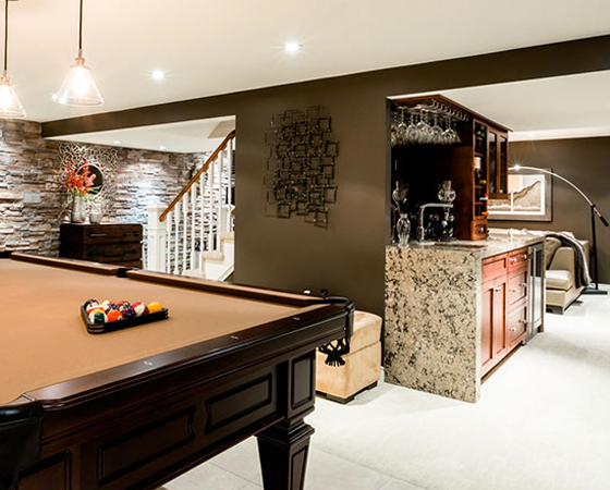 Luxury Basement Renovation in Burlington