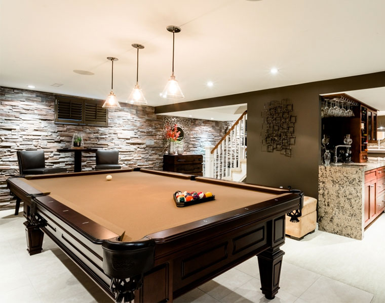 Custom Basement Renovations, Burlington